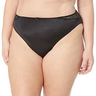 Arabella Women's Plus Size Hi Cut Lace Back Panty