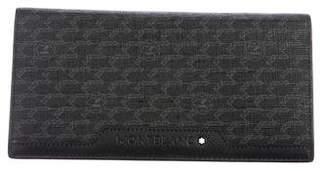 Montblanc Logo Leather Checkbook Wallet