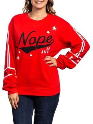 Unbranded Juniors' Graphic Long Sleeve Pullover Sweatshirt