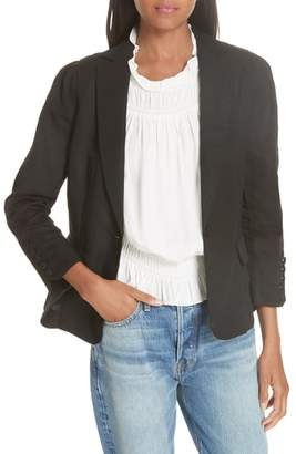 Frame Pleated Blazer