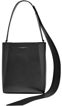 Calvin Klein Buck Stripe Suede-paneled Leather Shoulder Bag