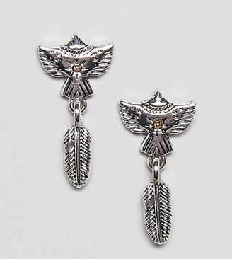Sacred Hawk feather drop earrings