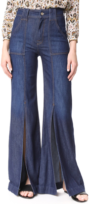 7 For All Mankind Palazzo Pants with Front Slits $229 thestylecure.com