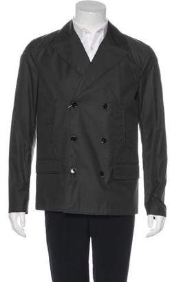 Dolce & Gabbana Double-Breasted Woven Peacoat w/ Tags
