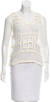 Boy. by Band of Outsiders Sleeveless Crocheted Top $75 thestylecure.com