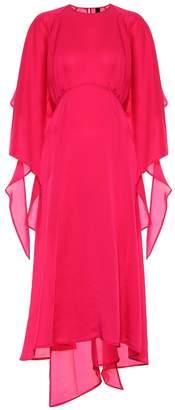 Petar Petrov Duran asymmetric silk-blend dress