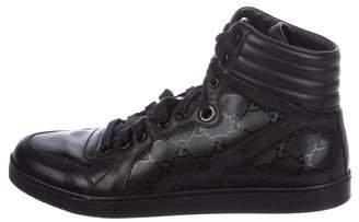 Gucci GG Imprimé High-Top Sneakers