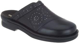 Clarks Perforated Leather Clogs - Patty Renata
