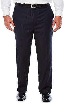 STAFFORD Stafford Travel Navy Twill Suit Pants - Big & Tall