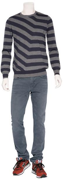 Paul Smith Blue/Grey Crew Neck Pullover