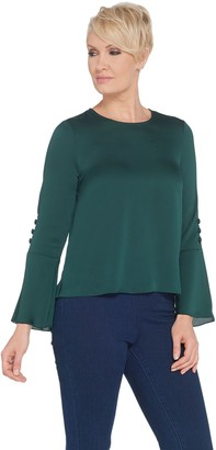 Vince Camuto Long-Sleeve Flutter Cuff Blouse