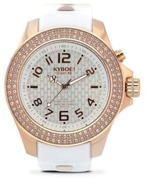 KYBOE Radiant Rose Gold Silicon-Strap Watch
