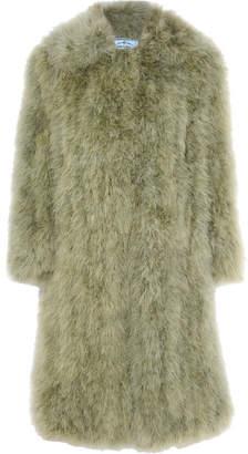 Prada Feather Coat - Mint