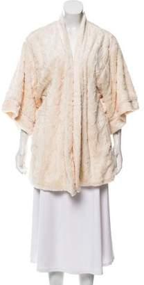 Natori Faux Fur Open Robe w/ Tags