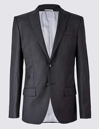 Marks and Spencer Herringbone Regular Fit Wool Jacket