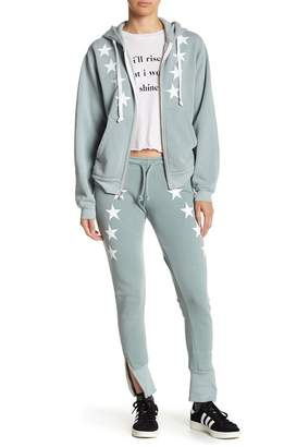 Wildfox Couture Cosmos Star Print Ankle Zip Pants