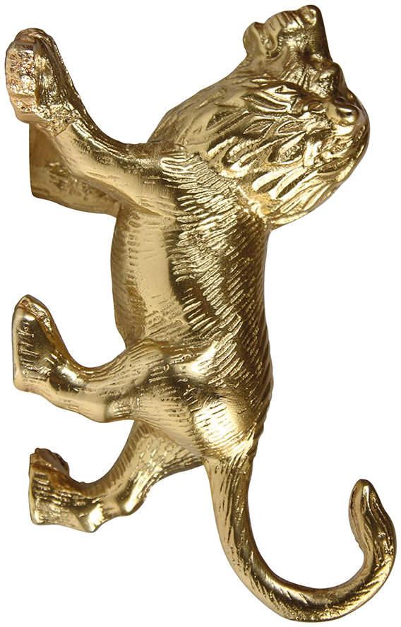 &Klevering - Lion Wall Hook - Gold