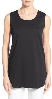 Women's Ming Wang Sleeveless Woven Shell $110 thestylecure.com