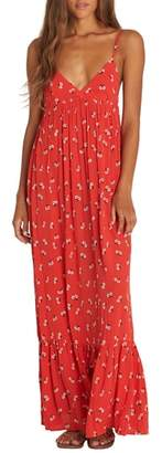 Billabong Flamed Out Print Maxi Dress