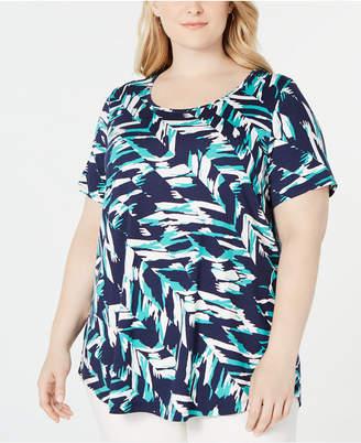 JM Collection Plus Size Printed T-Shirt