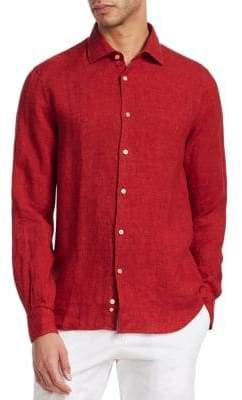 Saks Fifth Avenue COLLECTION Solid Linen Button-Down Shirt