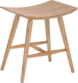 Webster Temple & Yoko Curved Ash Wood Low Stool