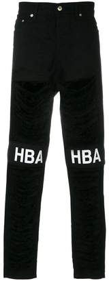 Hood by Air sherd logo jeans