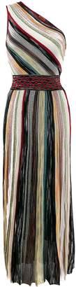 Missoni grecian striped one shoulder dress