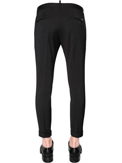 15cm Skinny Stretch Wool Cady Pants 3