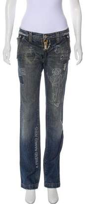 DSQUARED2 Low-Rise Printed Jeans