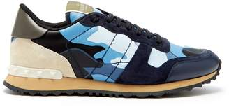 Valentino Rockrunner camouflage low-top leather trainers