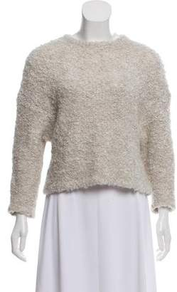 Tibi Ribbed Long Sleeve Sweater