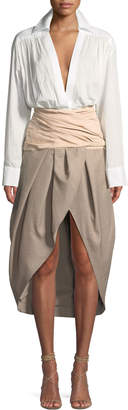 Jacquemus La Robe Melao Long-Sleeve Wool Dress