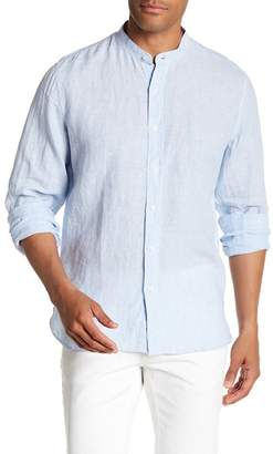 Toscano Long Sleeve Stripe Linen Shirt
