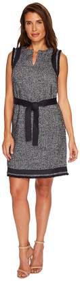 Ellen Tracy Split-Neck Shift Dress Women's Dress