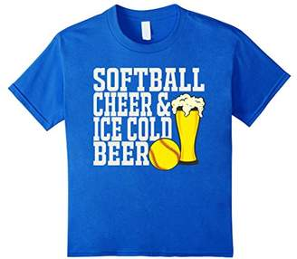 Softball Cheer And Ice Cold Beer T-Shirt