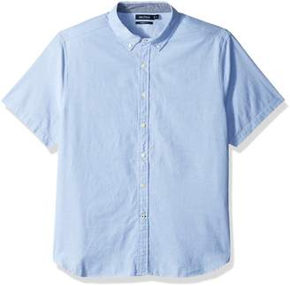 Nautica Men's Classic Fit Solid Oxford Short Sleeve Button Down Shirt