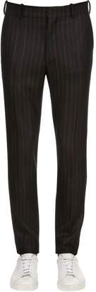Alexander McQueen 17cm Striped Wool Trousers