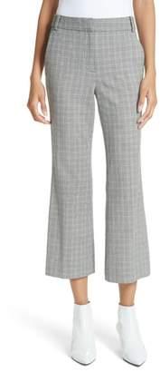 Tibi Glen Check Crop Bootcut Pants