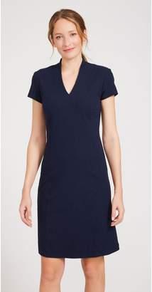 J.Mclaughlin Ivana Cap Sleeve Dress in Neo Honeycomb Jacquard