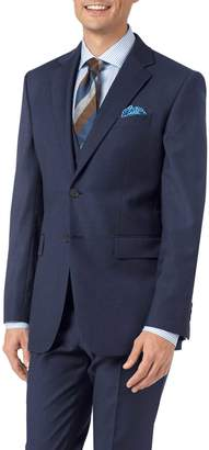 Charles Tyrwhitt Mid Blue Slim Fit Twill Business Suit Wool Jacket Size 38