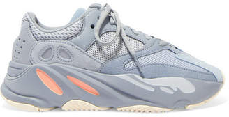 adidas Yeezy Boost 700 Suede, Leather And Mesh Sneakers - Gray
