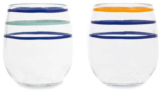 Kate Spade citrus twist acrylic stemless wine glasses set of 2