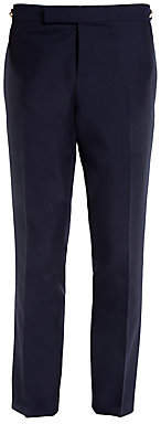 Thom Browne Men's Low-Rise Skinny Side Wool Trousers