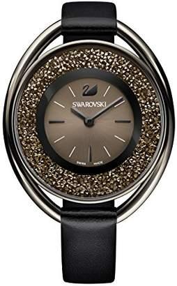Swarovski Crystalline Oval Black Tone Watch