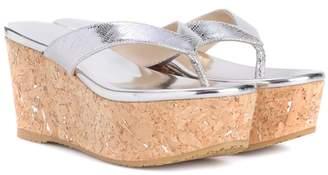 Jimmy Choo Paque 70 leather platform sandals