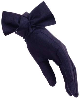 Black Navy Bow Cocktail Gloves