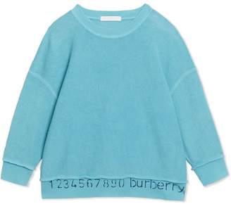Burberry TEEN Number Print Cotton Sweatshirt