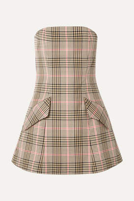 Maggie Marilyn + Net Sustain I Believe In You Strapless Checked Woven Mini Dress - Sand