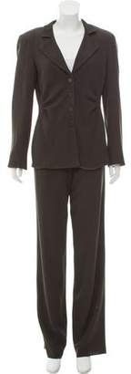 Armani Collezioni Structured Wool-Blend Pantsuit